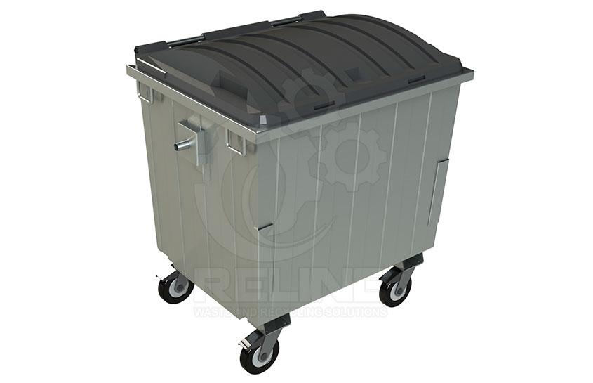 Мусорный контейнер 1100л с пластиковой крышкой