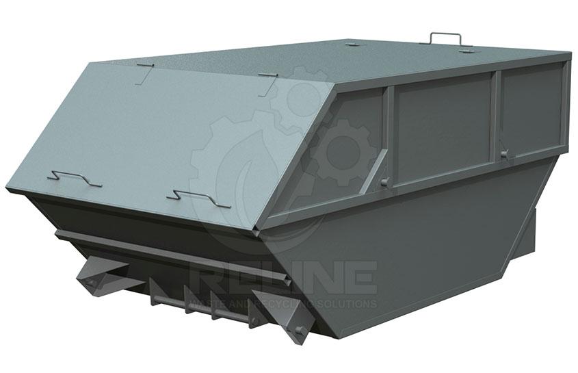 Бункер лодочка 8м3 с крышкой